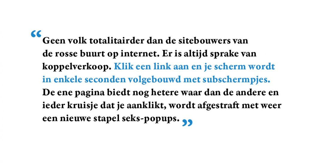 Quote uit Sitespotting, een internetcolumn uit 2001