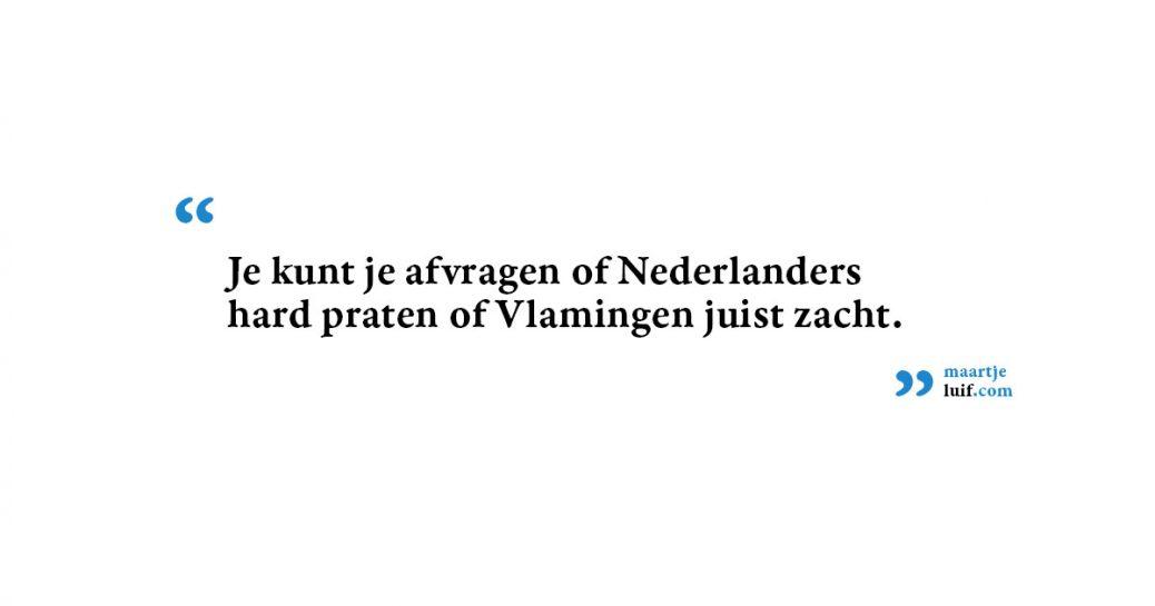 België versus Nederland: stemvolume