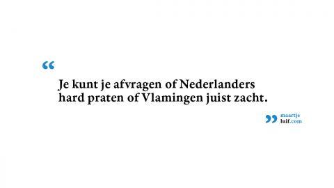 België-Nederland: stemvolume