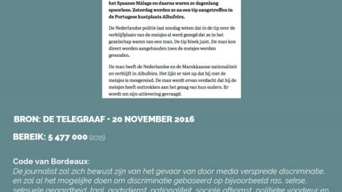 De Telegraaf • 20 november 2016