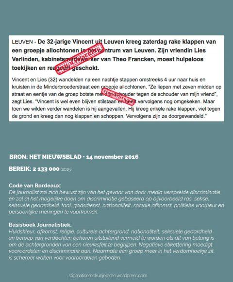 Het Nieuwsblad • 14 november 2016