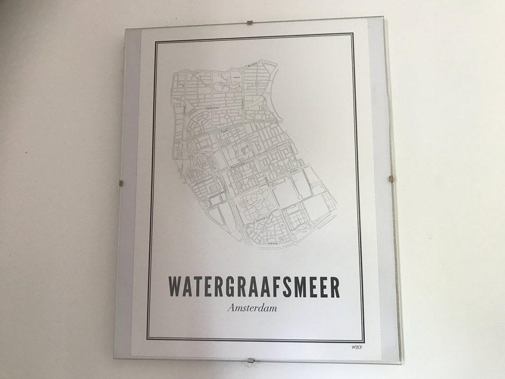 Afbeelding van plattegrond van de Watergraafsmeer in Amsterdam